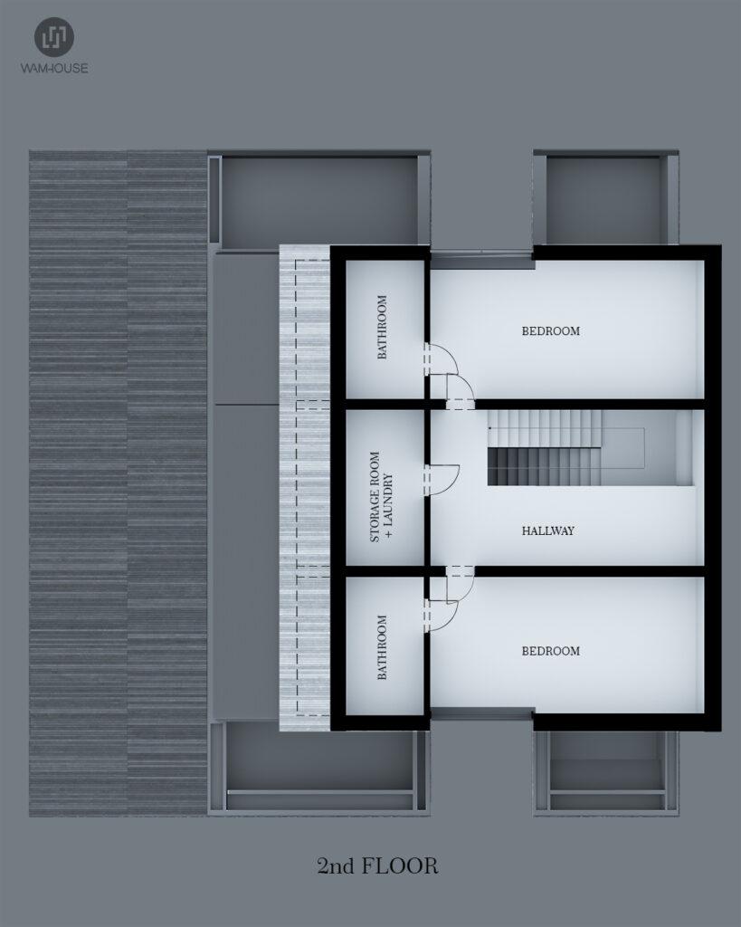 9- FLYHOUSE – dom inspirowany znanym logo (rzut 2 piętra)
