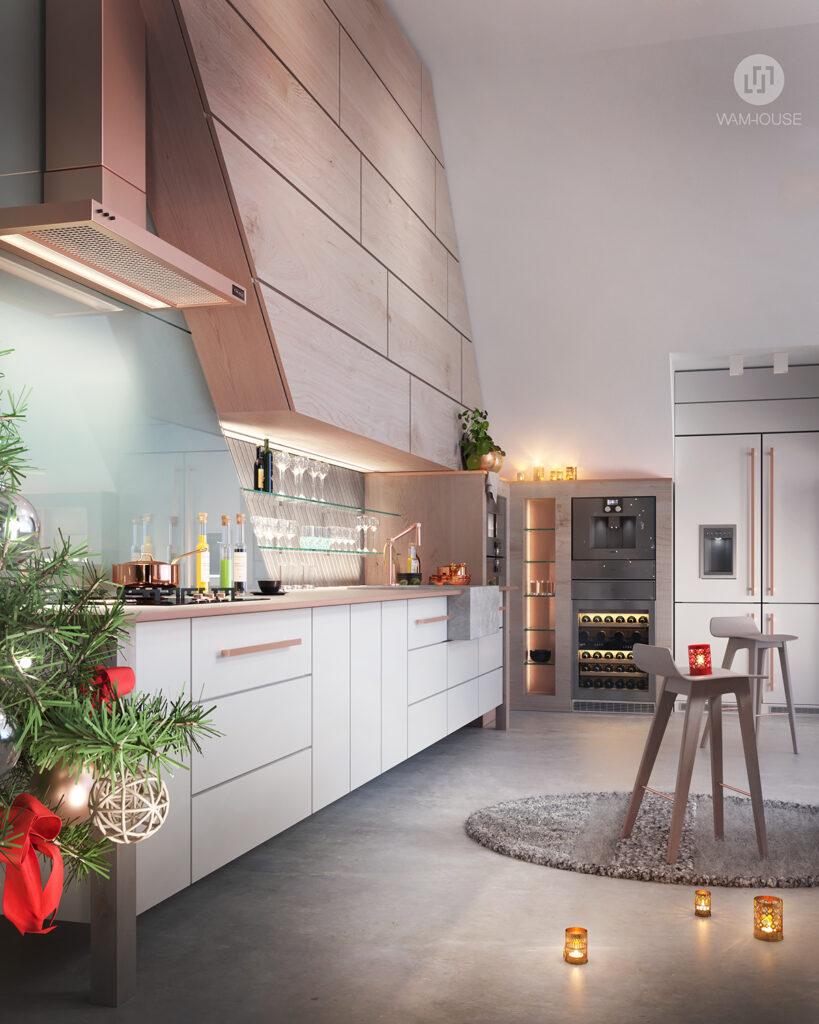2- FLYHOUSE – wnętrze domu: kuchnia