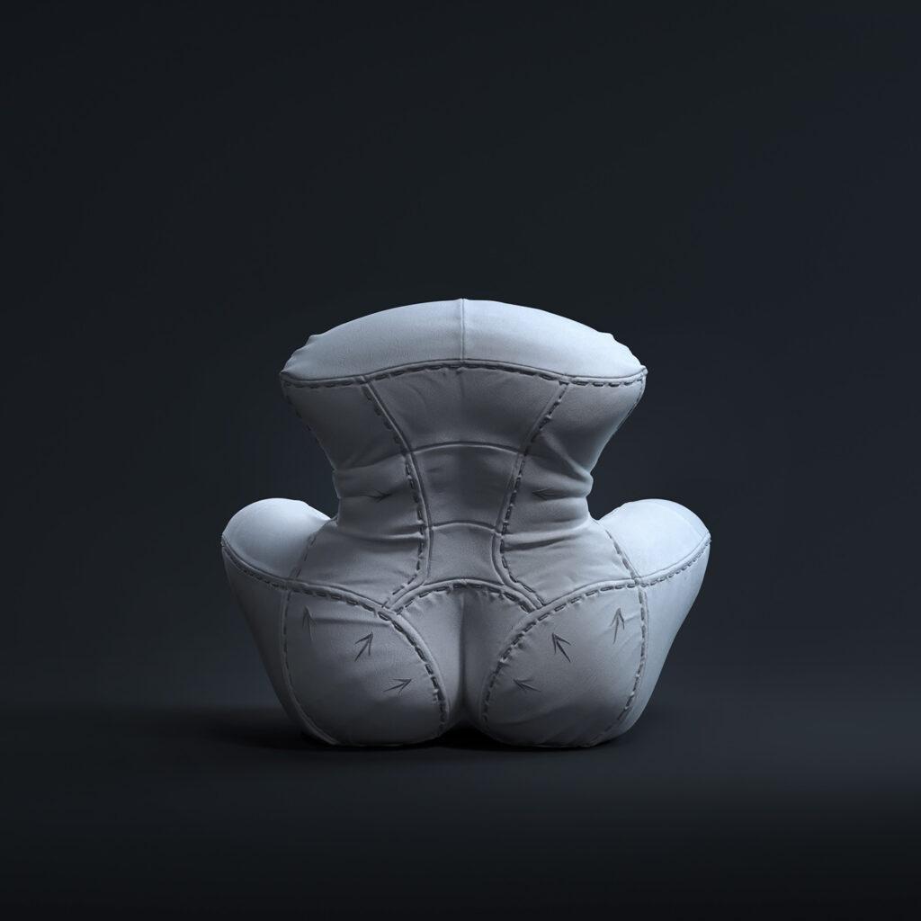 3 - NAGABABA – fotel skórzany w wersji białej