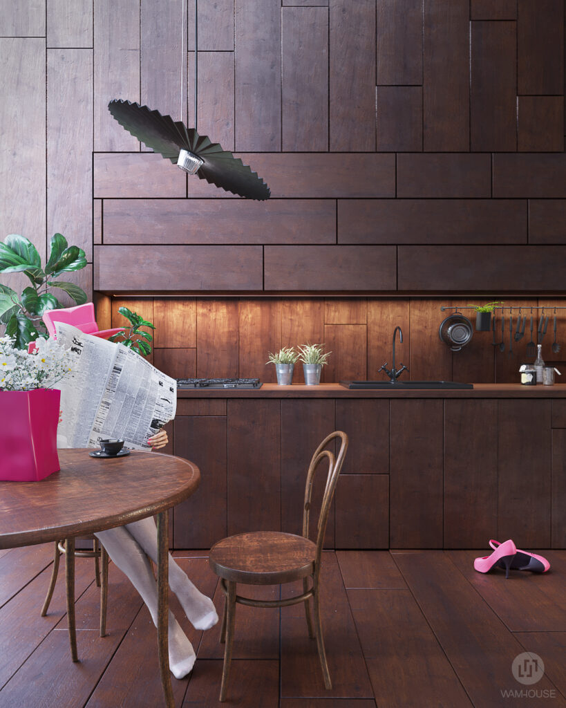 3- GREENHOUSE – projekt wnętrza (kuchnia)