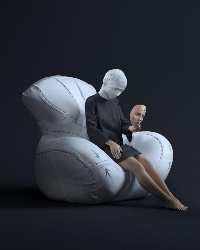 4- NAGABABA – fotel skórzany w wersji białej