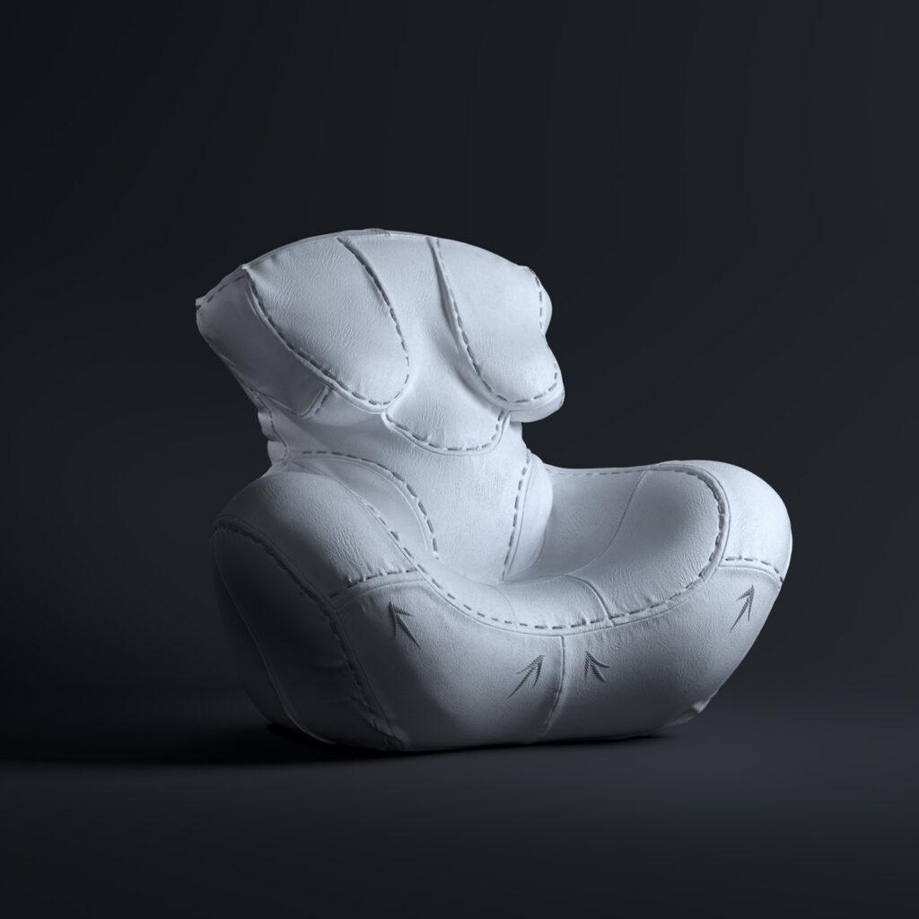 5 - NAGABABA – fotel skórzany w wersji białej
