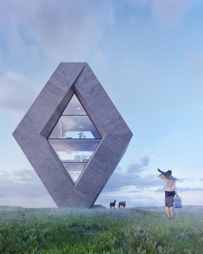 5- RHOMBHOUSE – dom inspirowany znanym logo