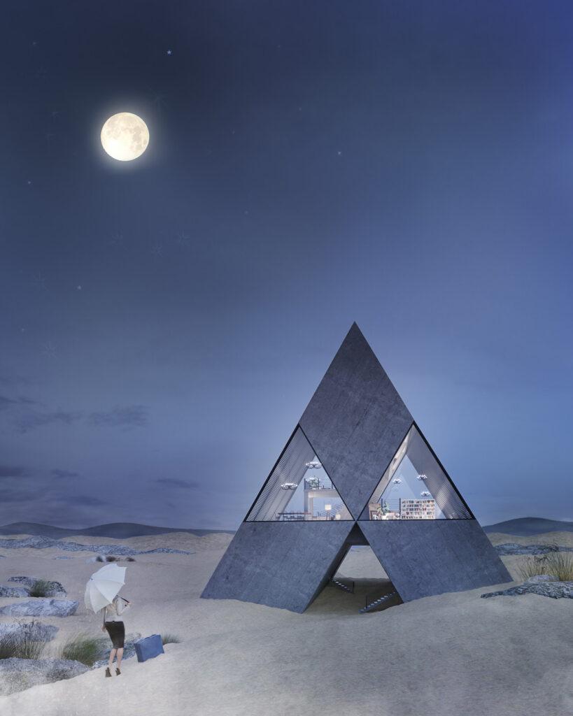 6- PYRAHOUSE – dom inspirowany znanym logo
