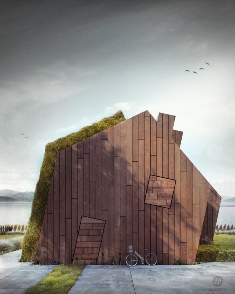 7- GREENHOUSE – nowoczesny dom wiejski (front domu)